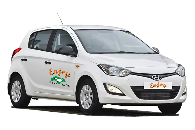 hyundai i20 enjoy rentals samos new
